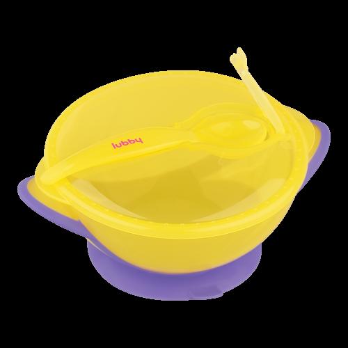 Тарелка на присоске с ложкой