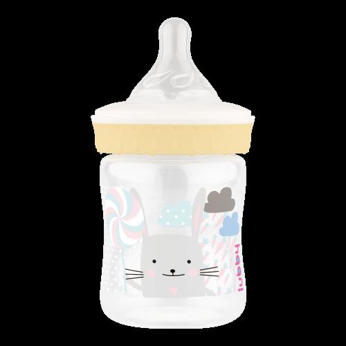 Бутылочка с силиконовой соской 125 мл.