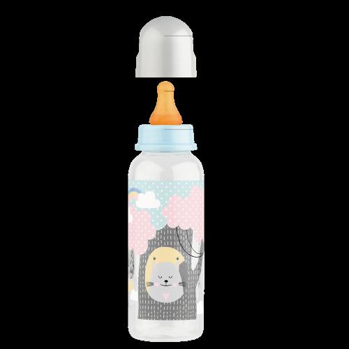 Бутылочка с латексной соской 250 мл.